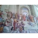 Which of the following pairs are the central figures in raphaels school of athens
